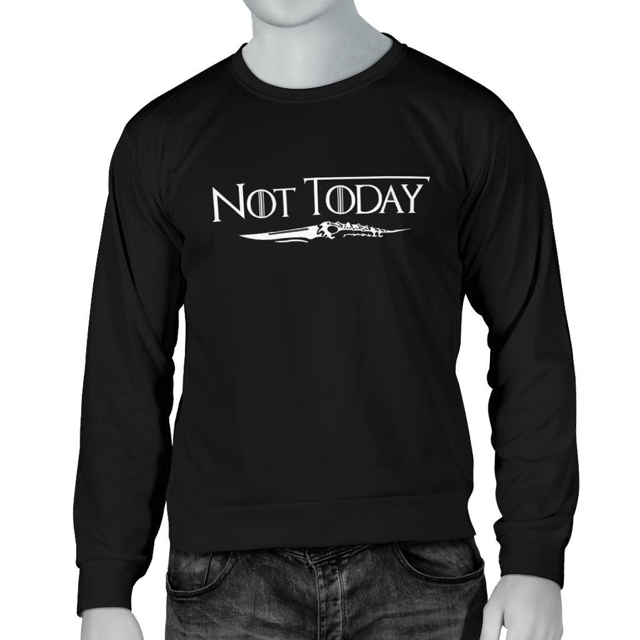 Arya Stark Not Today Men's Sweater