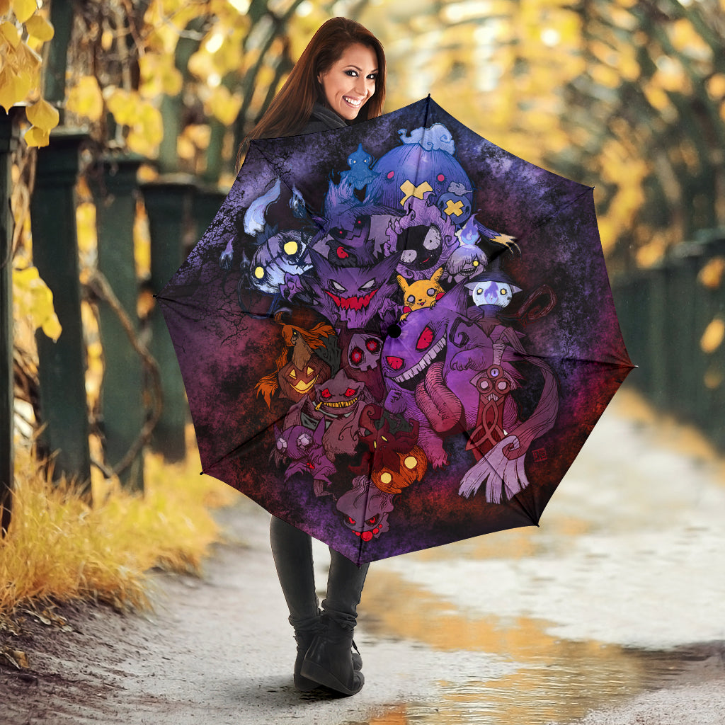 Pokemon Ghost Halloween Umbrella