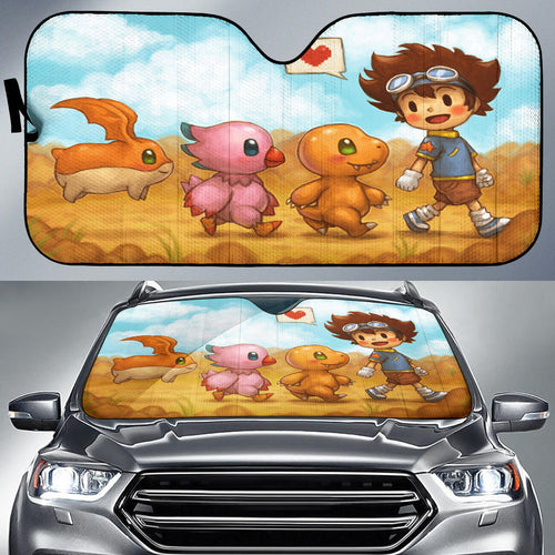 Digimon Wall Sun Shade