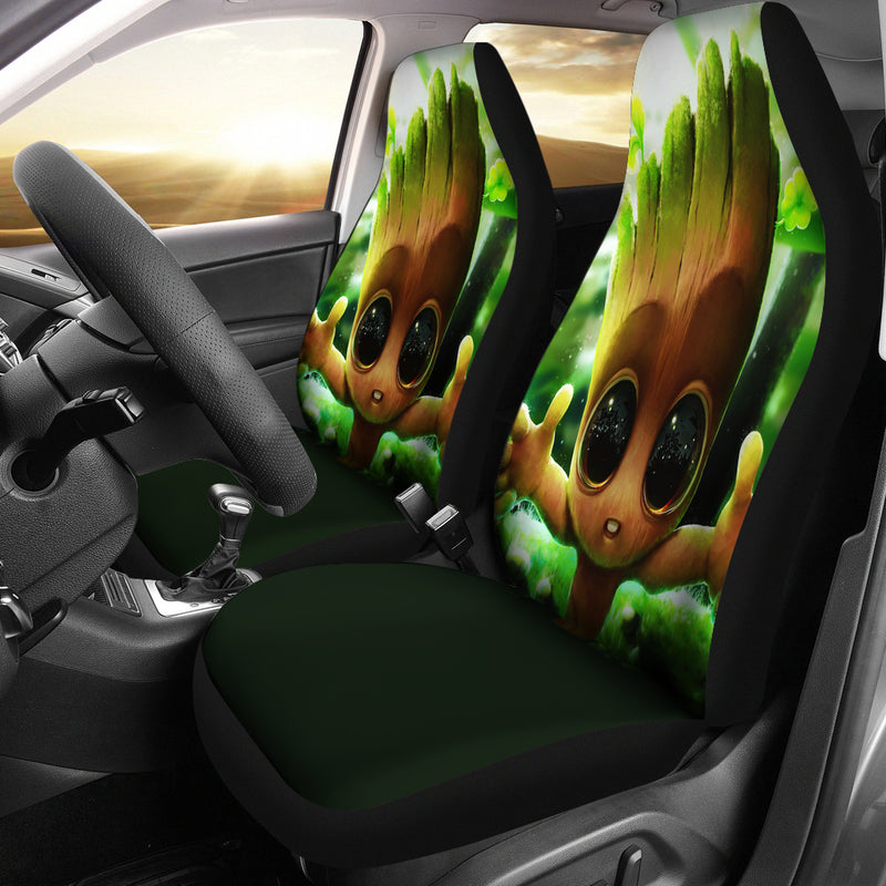Baby Groot Cute Car Seat Covers