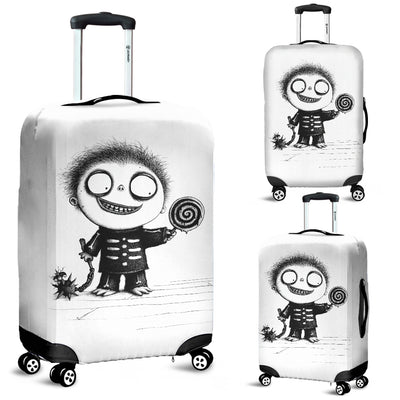 The Little White Bat Luggage Covers