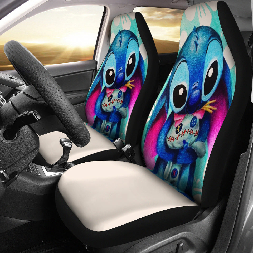 Stitch Hug Car Seat Covers - 99Shirt
