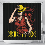 One Piece Shower Curtain