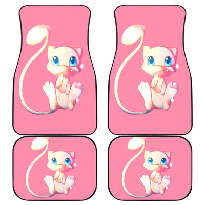 Mew Cute Front And Back Car Mats