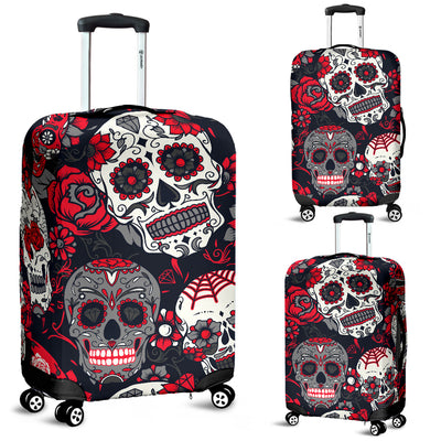 Skull Luggage Covers 1