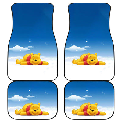 Winnie The Pooh Front And Back Car Mats 8 (Set Of 4)