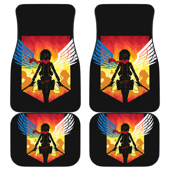 Mikasa Attack On Titan Car Mats