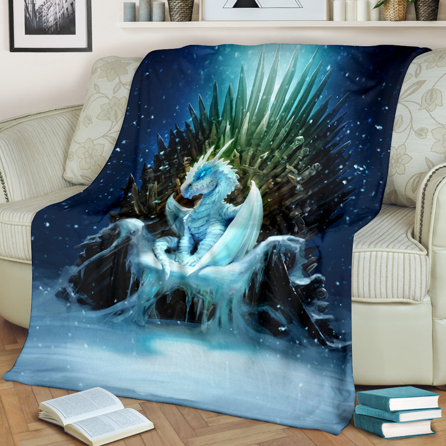 White Walker Ice Dragon Premium Blanket