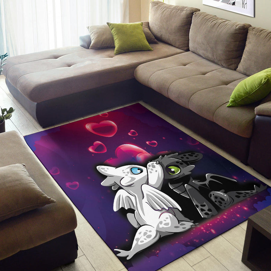 Night Fury And Light Fury Area Rug