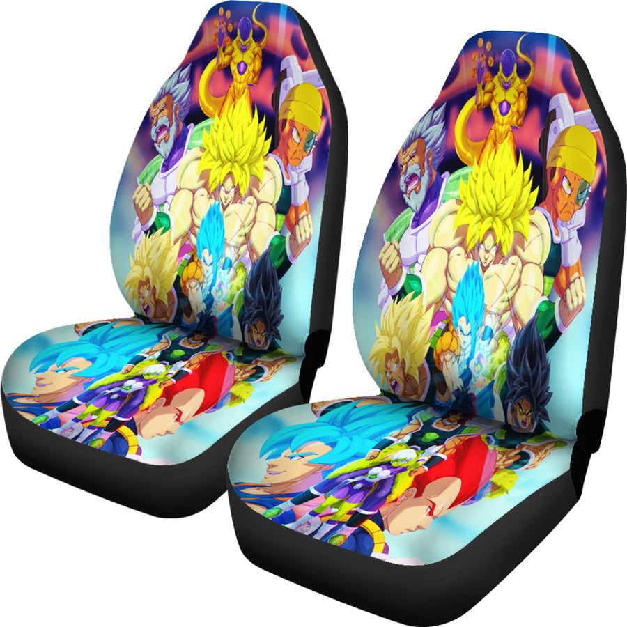 Broly vs Goku vs Vegeta Car Seat Covers