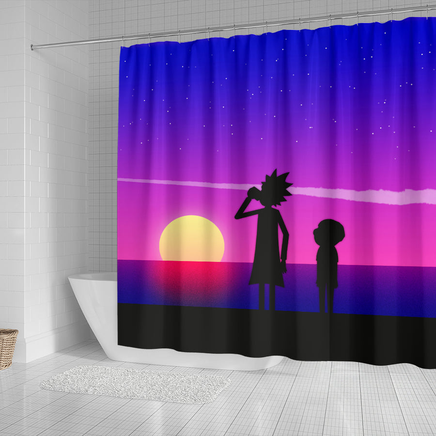 Rick and Morty Shower Curtain 6