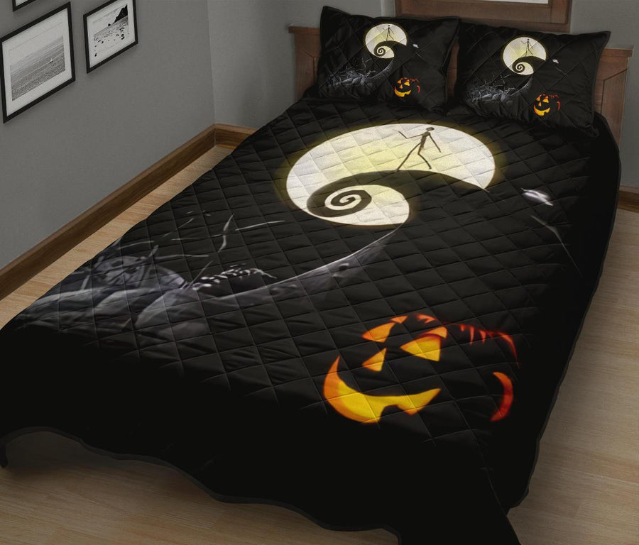The Nightmare Before Christmas Halloween movie Quilt Bed Set - Pillow Case - amazing decor gift ideas 2