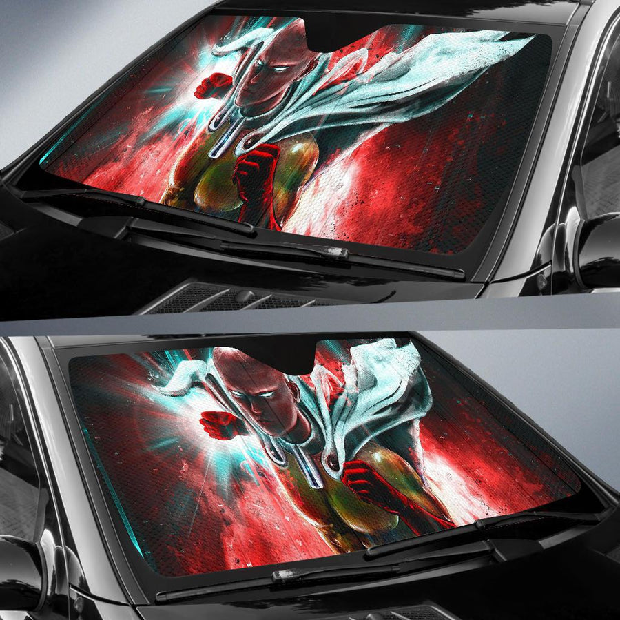 One Punch Man Japanese Superhero Webcomic 4K 8K Car Sun Shade