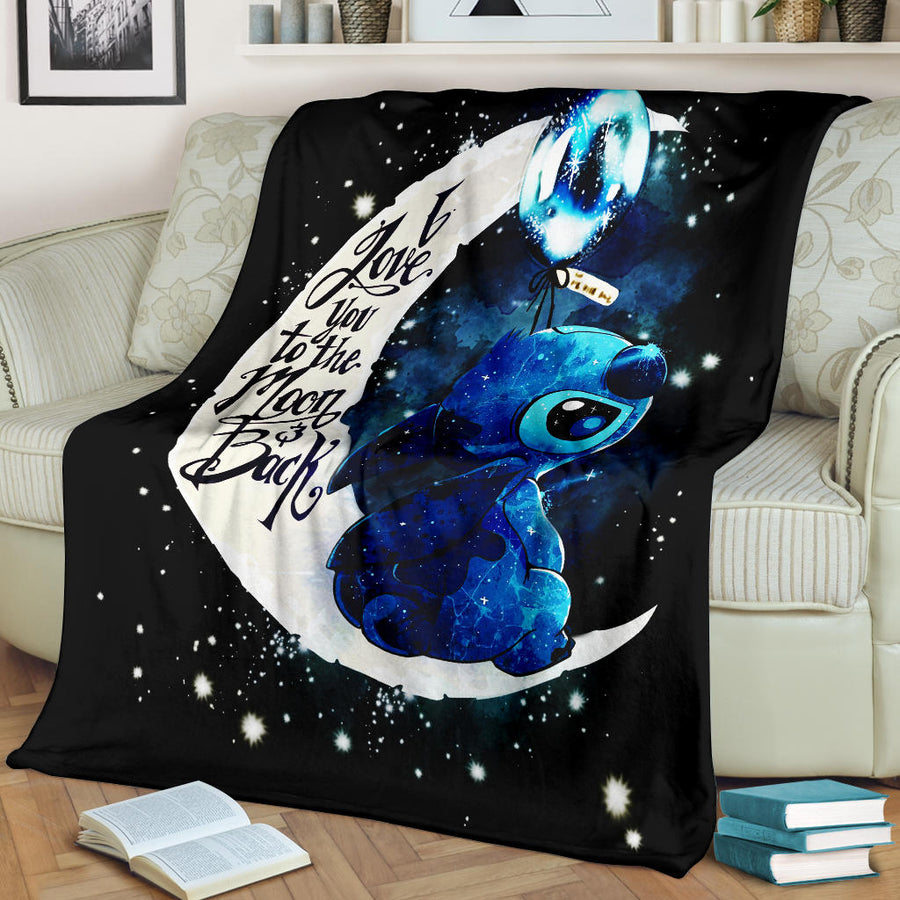 Stitch Moon Premium Blanket