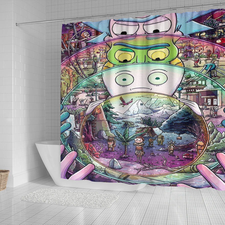 Rick and Morty Shower Curtain 8