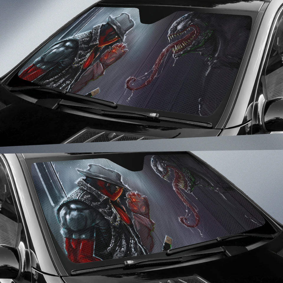 Deadpool Vs Venom Car Sun Shades