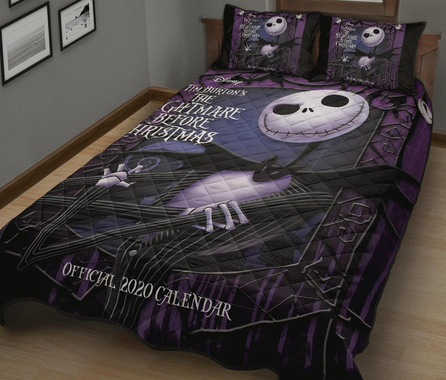 The Nightmare Before Christmas Halloween movie Quilt Bed Set - Pillow Case - amazing decor gift ideas 4