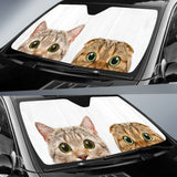 Cute Cats Hiding Car Sun Shades