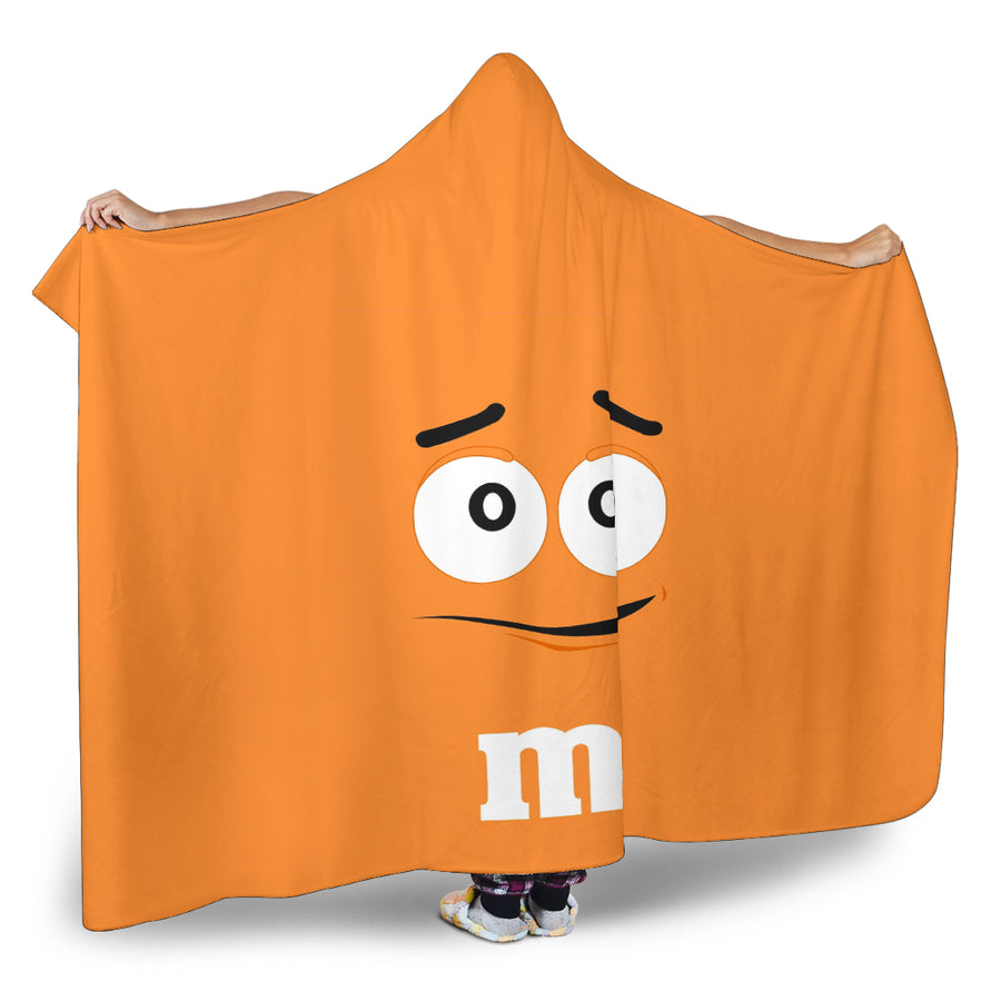 M&M Orange Chocolate Hooded Blanket
