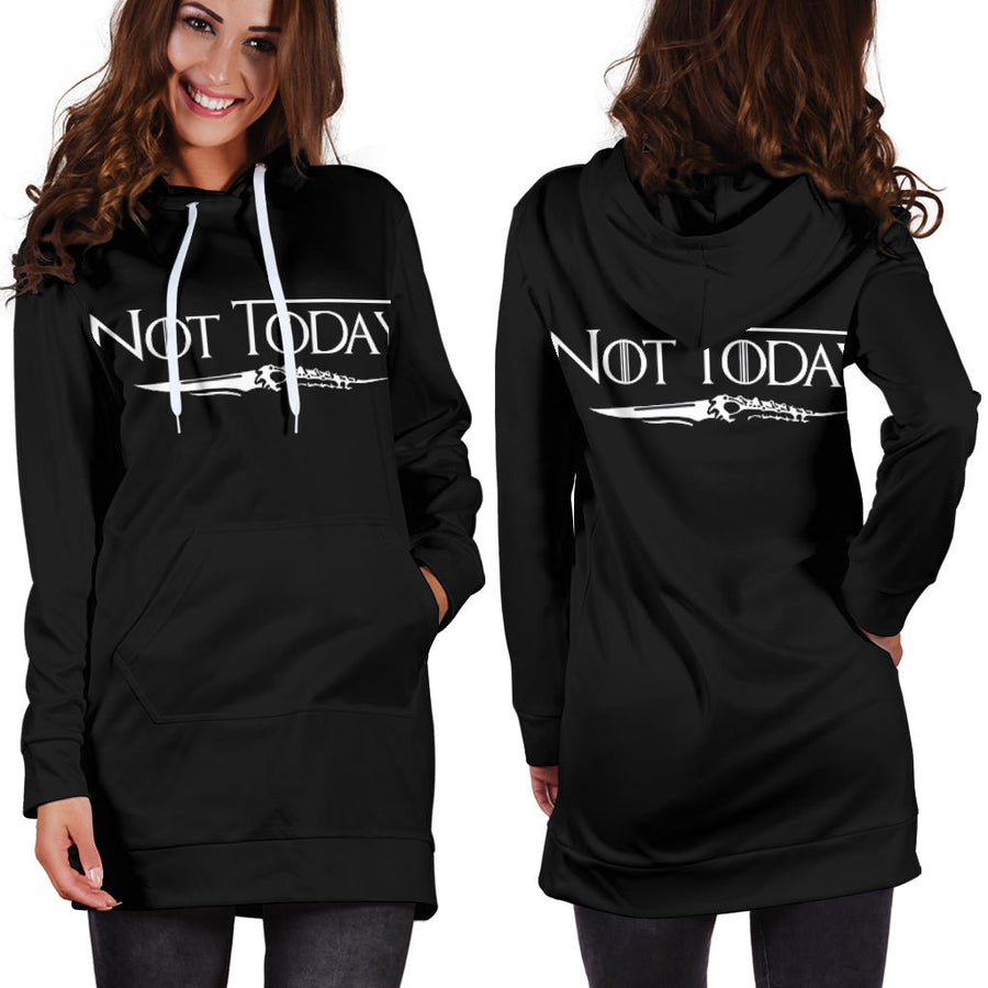 Not Today Arya Stark Hoodie Dress
