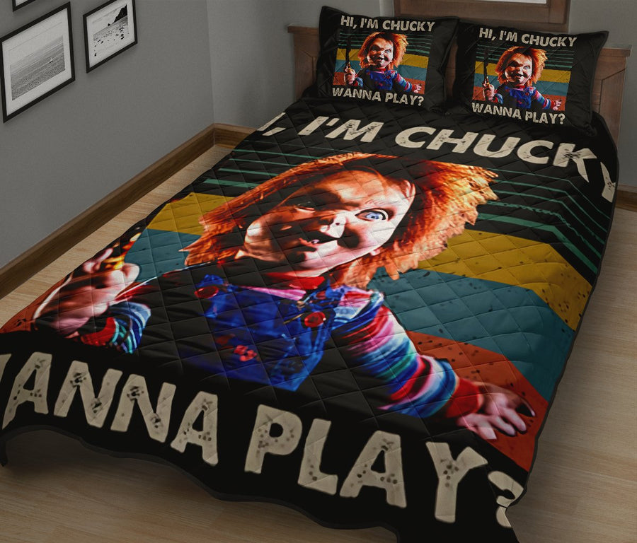 Chucky Child's Play Halloween Horror Movie Quilt Bed Set - Pillow Case - amazing decor gift ideas 1