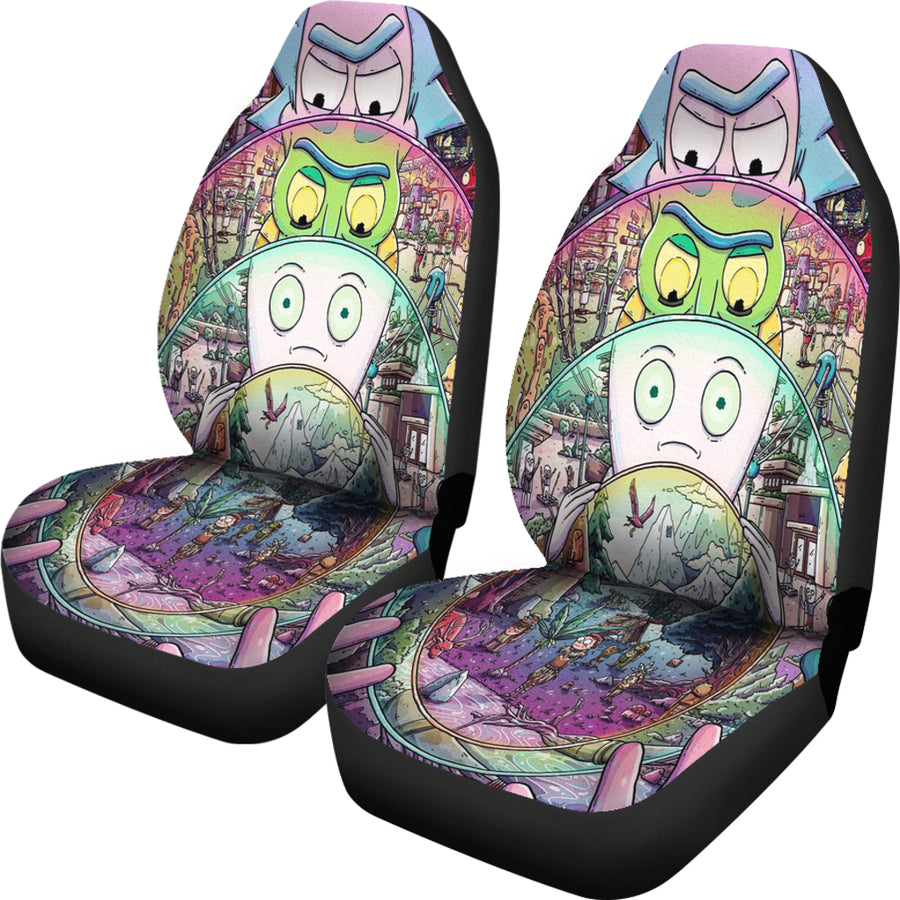 Rick And Morty Car Seat Covers 1 - Amazing Best Gift Idea
