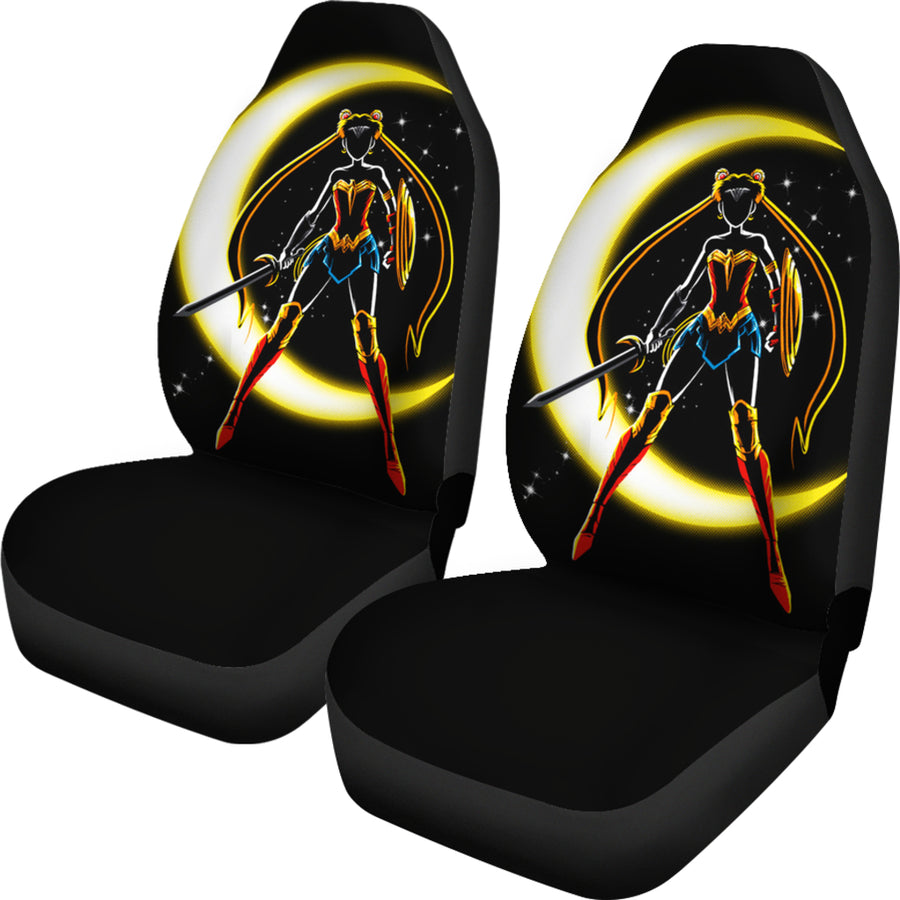 Sailor Moon X Wonder Woman Car Seat Covers - Amazing Best Gift Idea