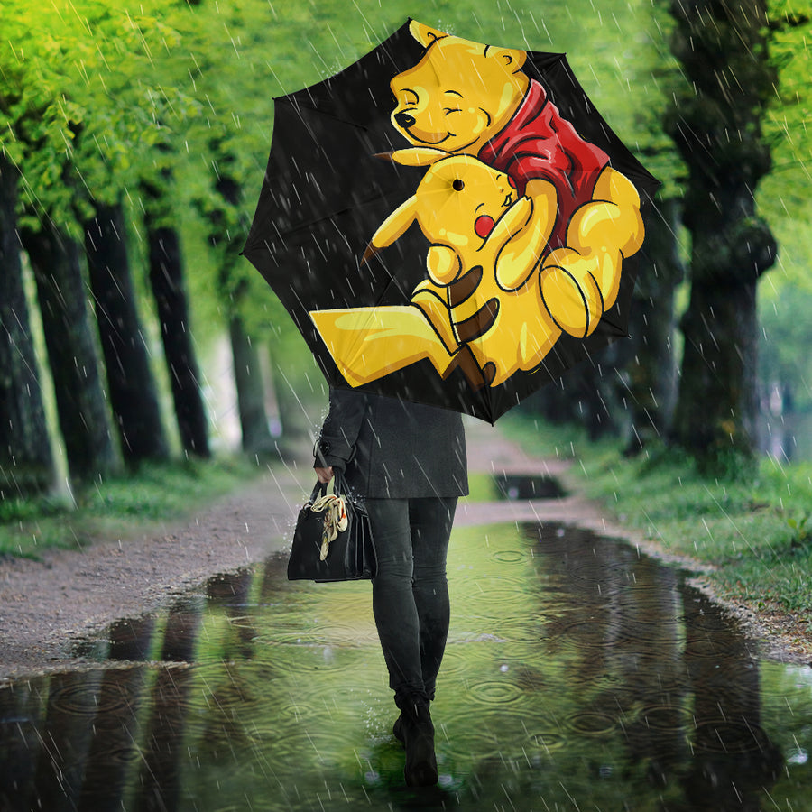 Pooh And Pikachu Umbrella
