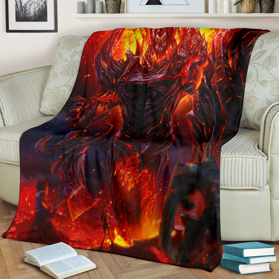 Colossus Of Fire Premium Blanket 1