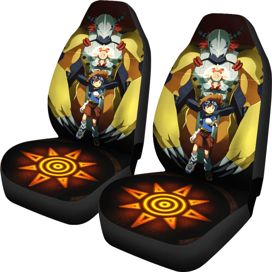 Wargreymon Digimon Car Seat Covers 1 - Amazing Best Gift Idea