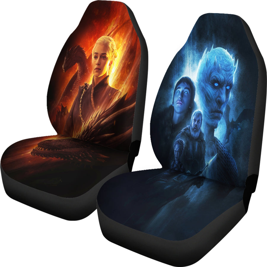 Mother Of Dragon vs Night King Car Seat Covers