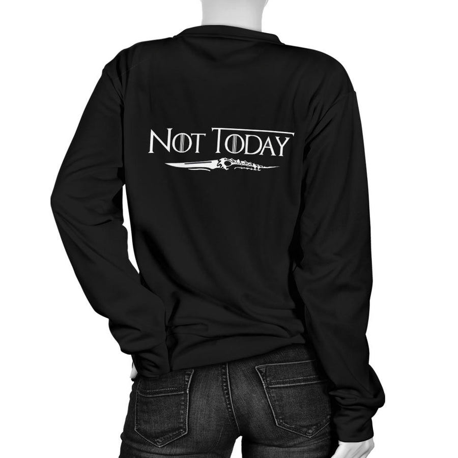 Arya Stark Not Today Women's Sweater