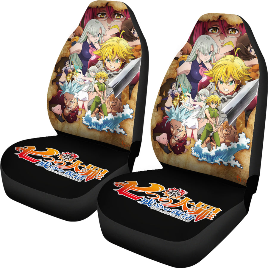 The Seven Deadly Sins HD Car Seat Covers Gift For Fan Anime