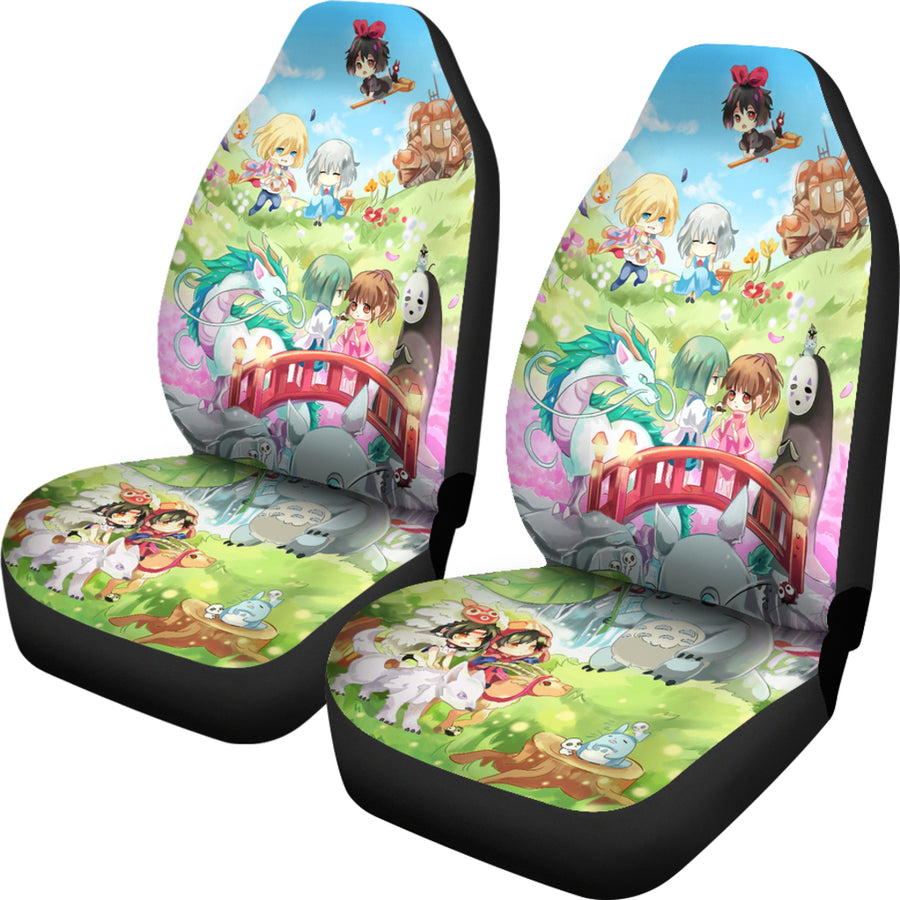 Chibi Ghibli Studio Car Seat Covers - Amazing Best Gift Idea