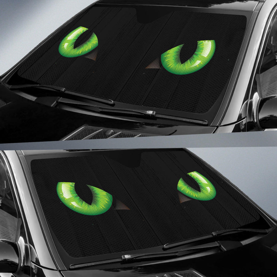 Cat Green Eyes Auto Sun Shades