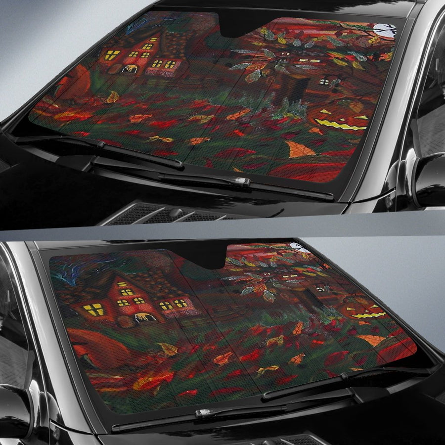 A Halloween Night Painting Sun Shade