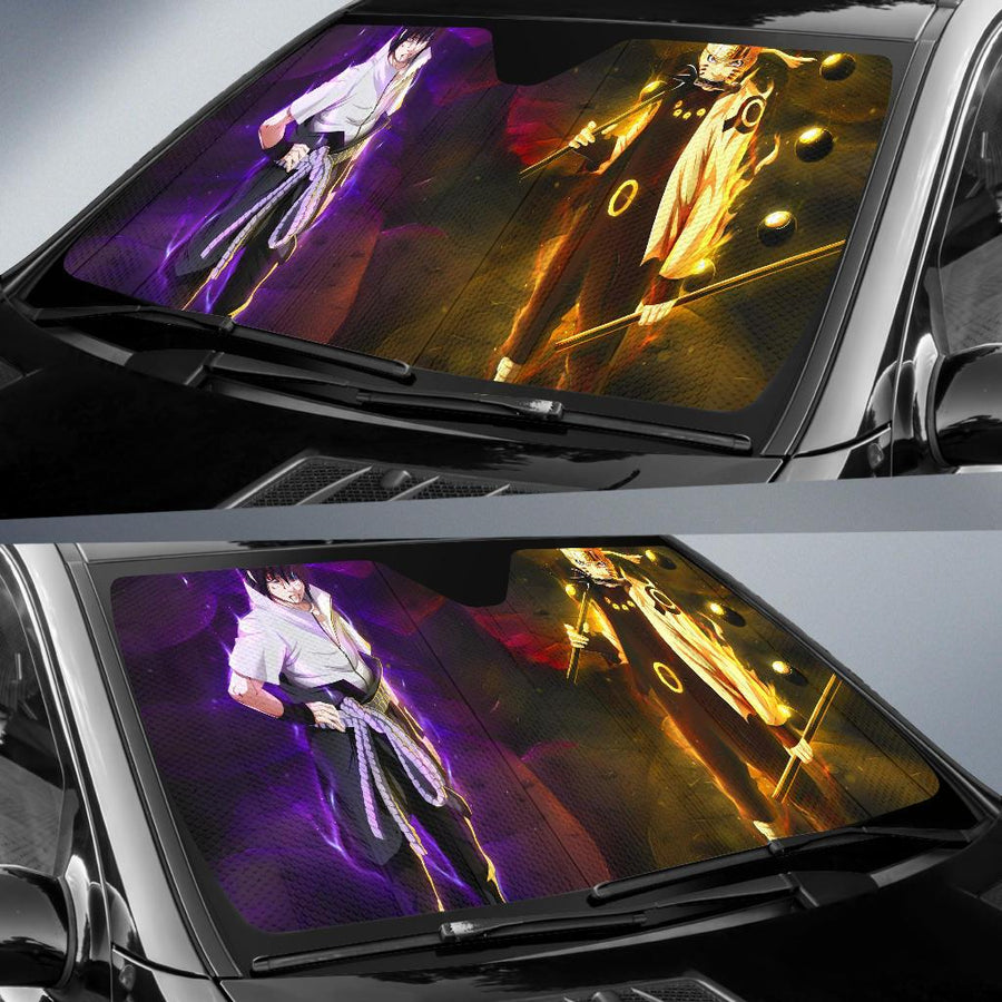 Naruto Uzumaki Sasuke Uchiha Car Sun Shade amazing best gift ideas 2020
