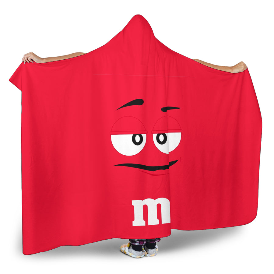M&M Red Chocolate Hooded Blanket