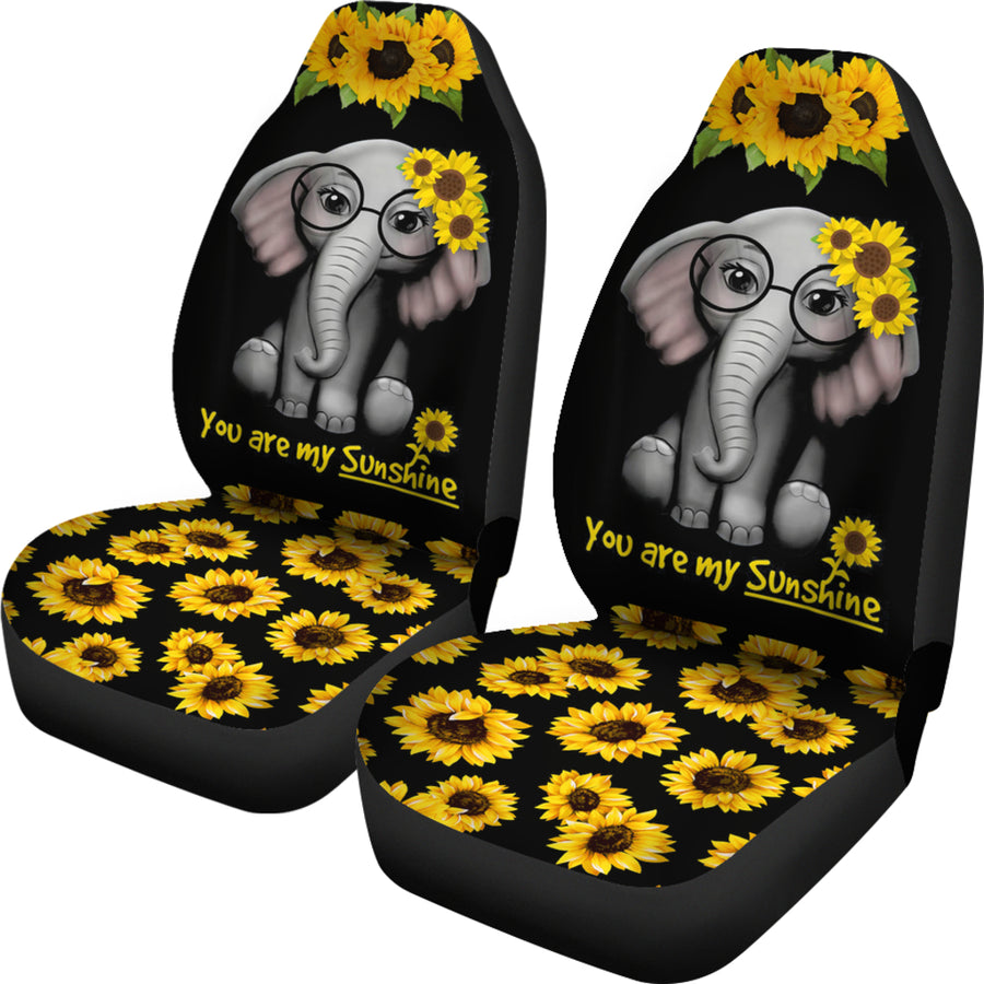 You Are My Sunshine Elephants Sunflowers Car Seat Covers