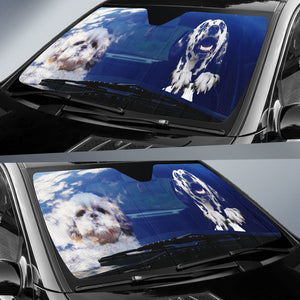 Dalmatians Driving Funny Car Sun Shades