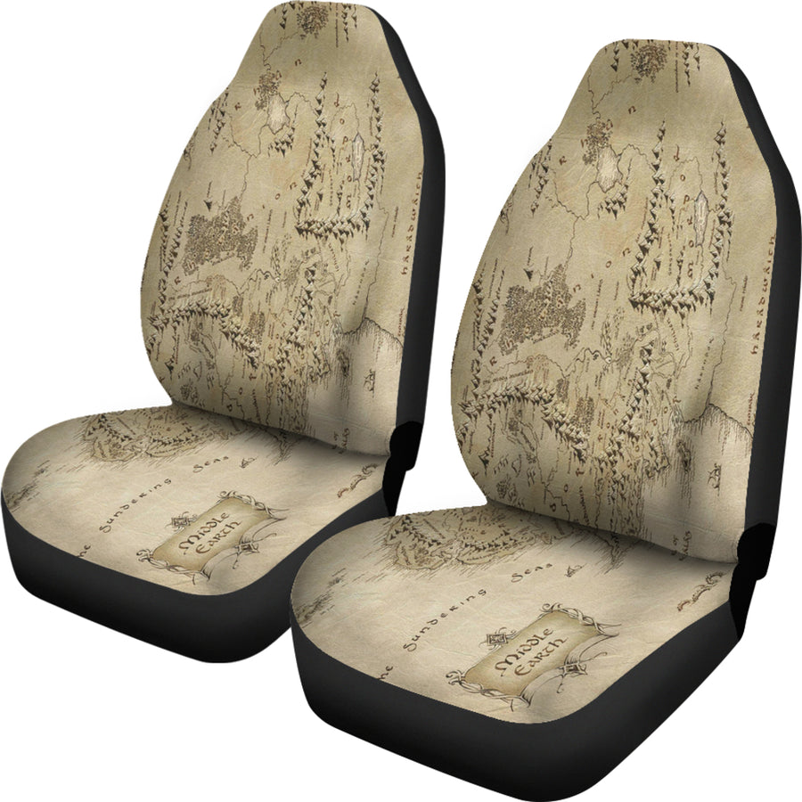 Lord Of The Rings Map Seat Covers