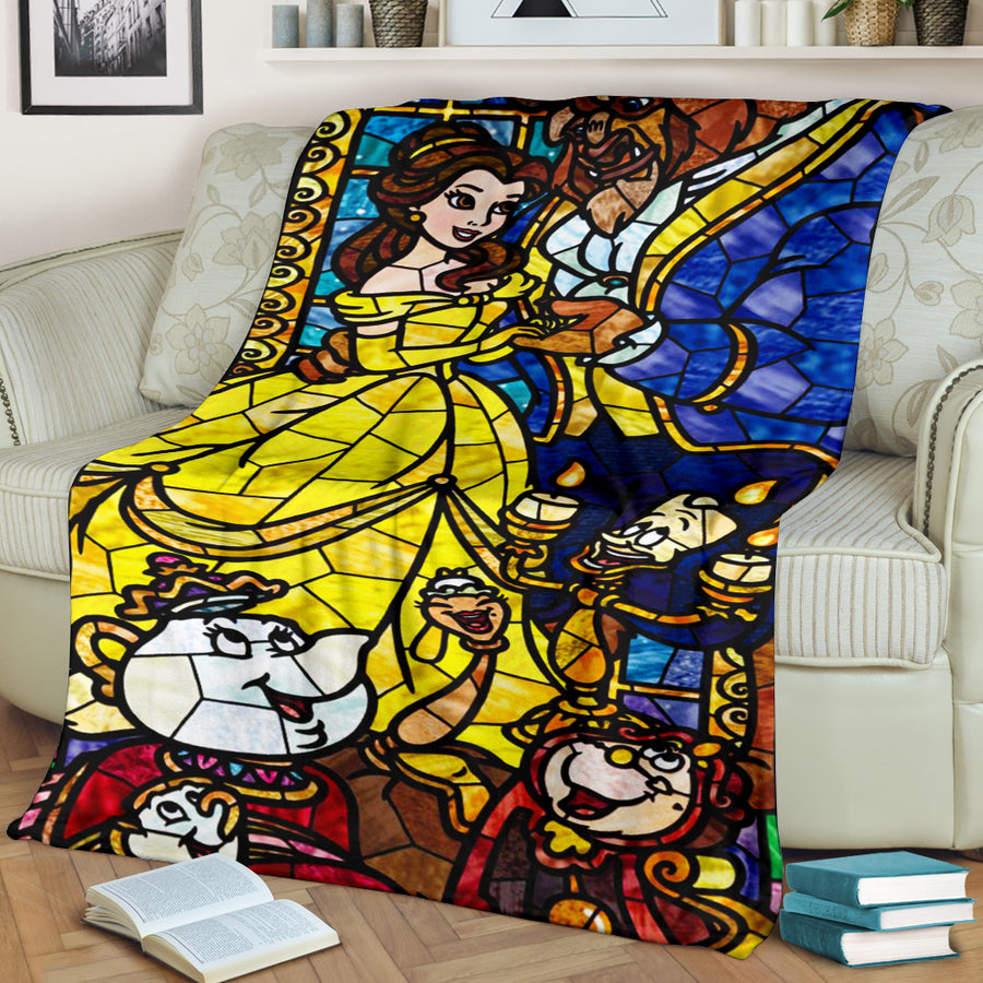 Beauty And The Beast Premium Blanket