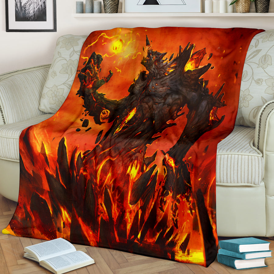 Colossus Of Fire Premium Blanket