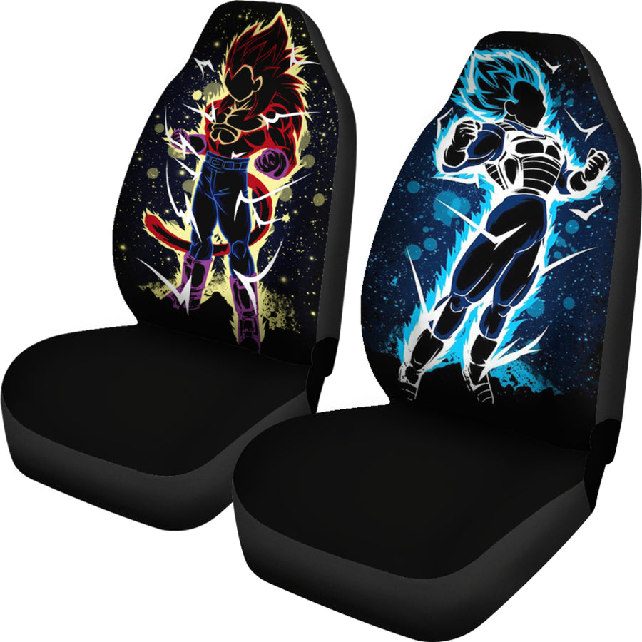 Vegeta SSJ 4 vs Blue Car Seat Covers
