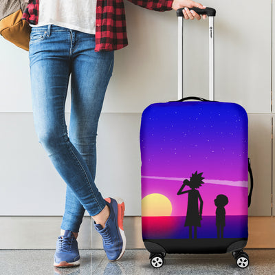 Rick And Morty Luggage Covers