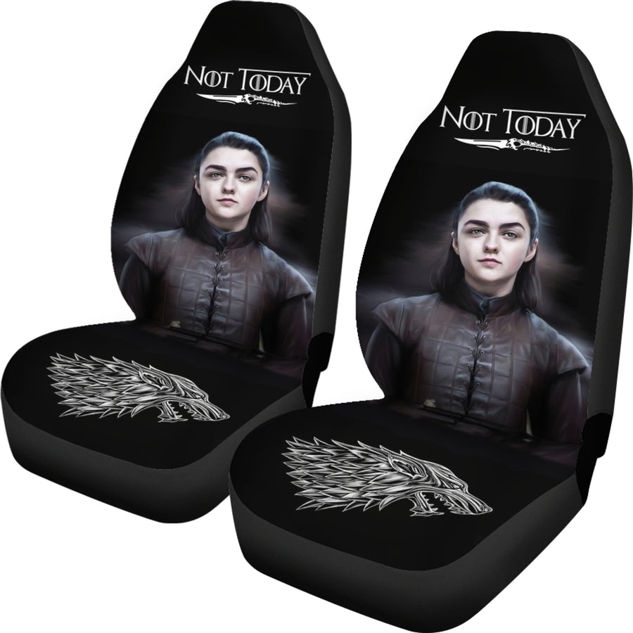 Not Today Arya Stark Car Seat Covers