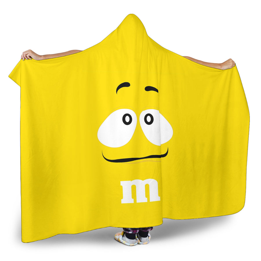 M&M Yellow Chocolate Hooded Blanket