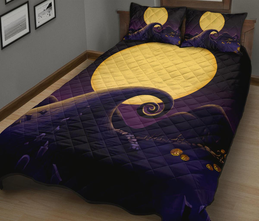 The Nightmare Before Christmas Halloween movie Quilt Bed Set - Pillow Case - amazing decor gift ideas 3