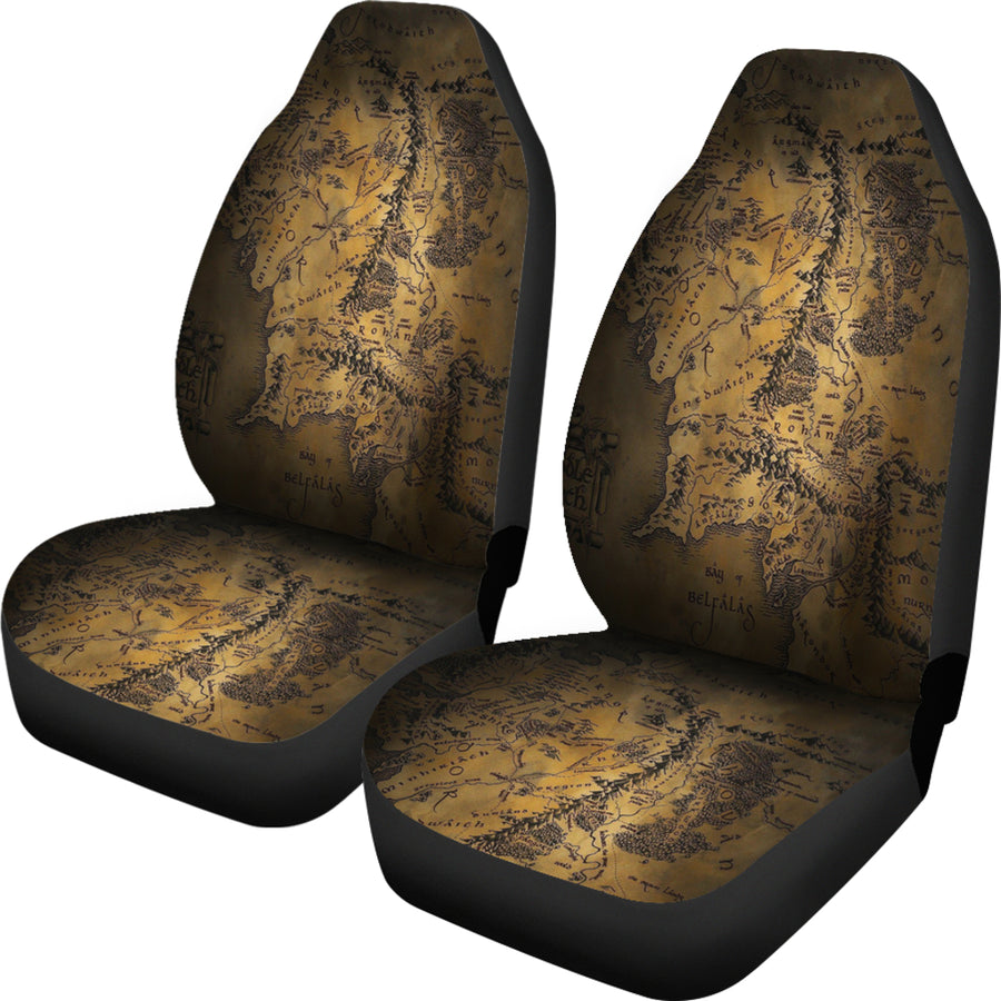 Lord Of The Rings Map 1 Seat Covers