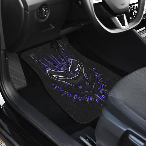Black Panther Front And Back Car Mats 1